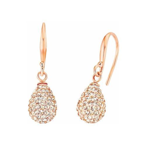 Ohrring für Damen, Sterling Silber 925, Kristallglas amor Apricot