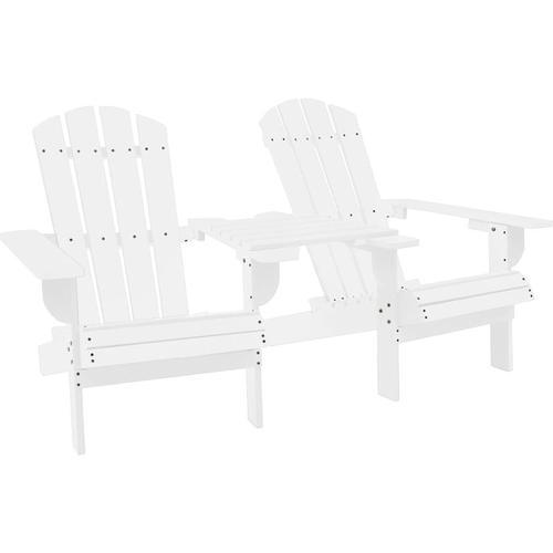 Vidaxl - Adirondack-Gartenstuhl Massivholz Tanne Weiß