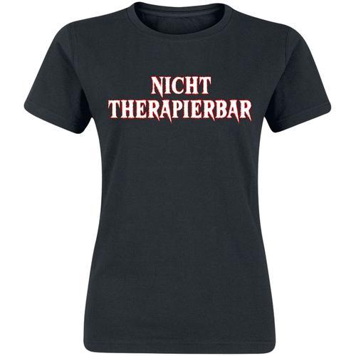 Nicht therapierbar Damen-T-Shirt - schwarz