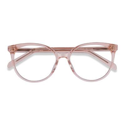 Female's Horn Clear Pink Acetate Prescription eyeglasses - EyeBuydirect's Nala