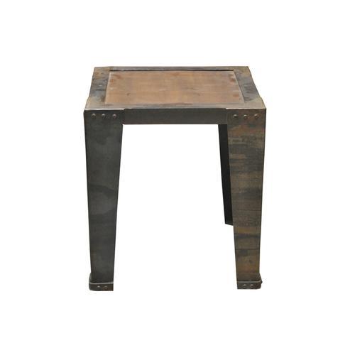 MiaMöbel Beistelltisch mit Metallfüßen Massivholz, Metall Recycletes Holz Modern Indien Indisch