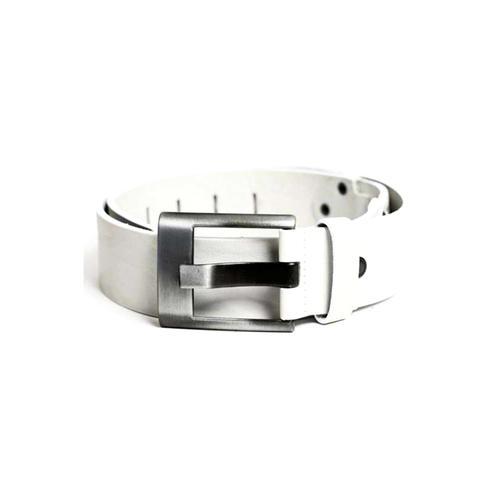 Cipo & Baxx Ledergürtel, mit dezentem Marken-Logo weiß Damen Ledergürtel Gürtel Accessoires