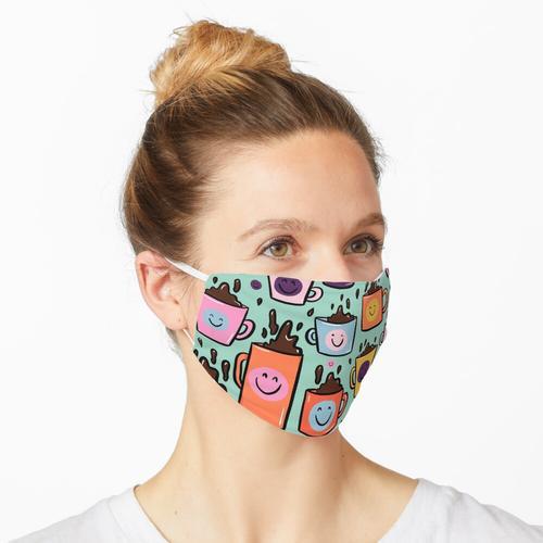 Smiley-Kaffee Maske