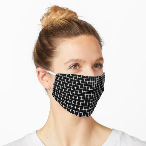 Schwarzes Millimeterpapier 3 Maske