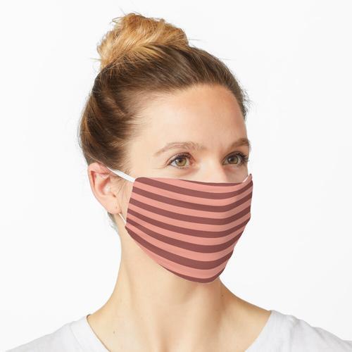 Braune und rosa Streifen Maske