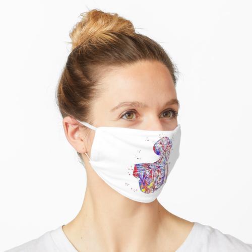 Menschlicher Torso, menschliche Anatomie, menschlicher Körper Maske