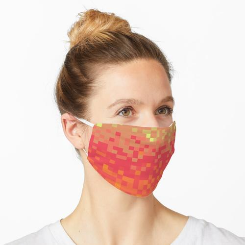 Orangefarbene Pixel Maske