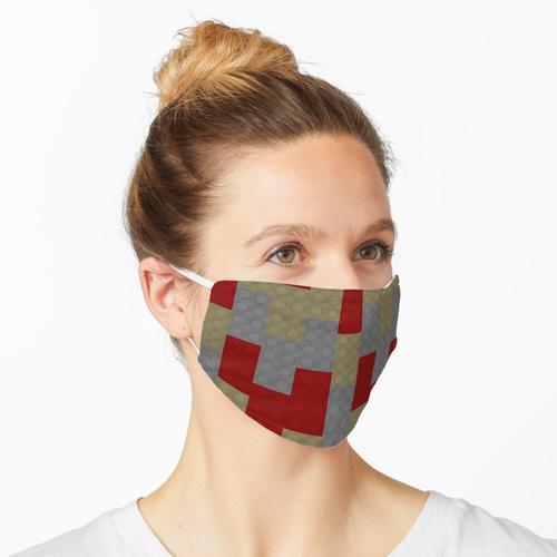 Roter Backstein Tan Brick Grey Brick Maske