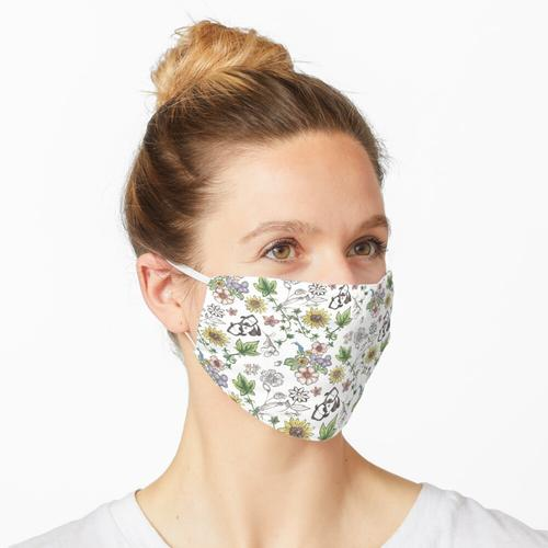 Bleistiftzeichnung Maske