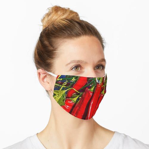 Pfeffer des roten Paprikas im New Mexiko Maske
