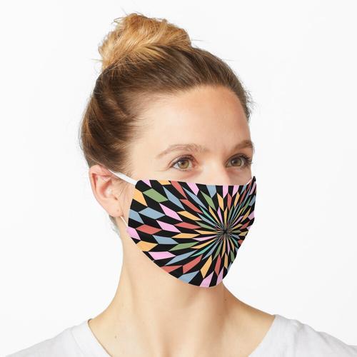 Hypnotischer und bunter Traum Maske