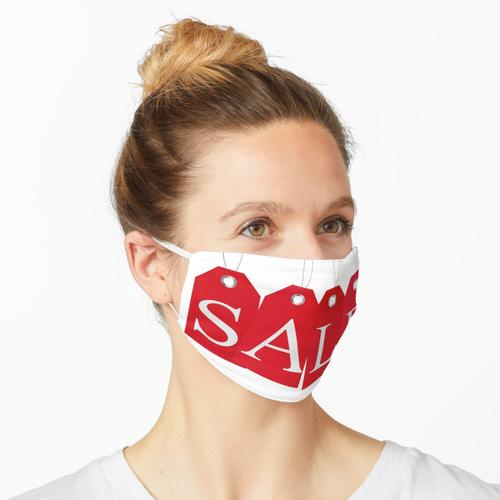 Sale Tags rot isoliert Maske