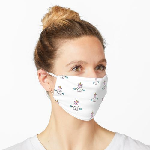 Einhorn - Hanteln - Fitness Maske