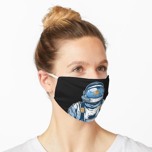 Astronaut, Aquarium, Goldfisch Maske