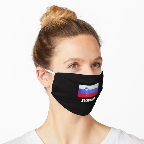 Slowenien Flagge Design | Slowenisches Design Maske