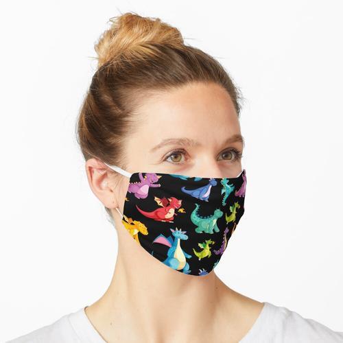 Drachenfeuer bunt Maske