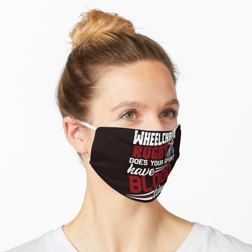 Eine Person mag Rollstuhlrugby Maske