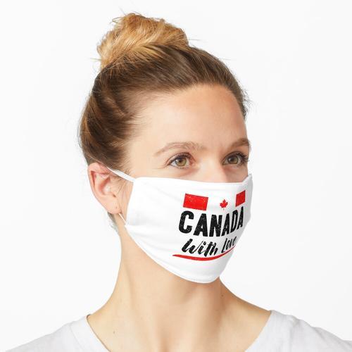 Kanada mit Liebe - Kanada-Tag - Kanada-Flagge Maske