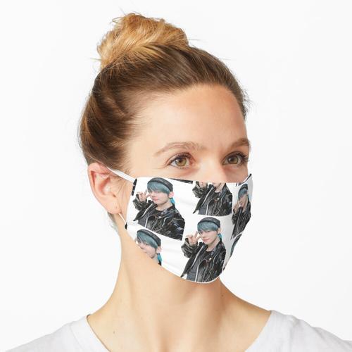 Lederjacke TXT Yeonjun Maske