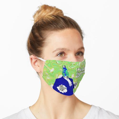 Lavalampe (grün) Maske
