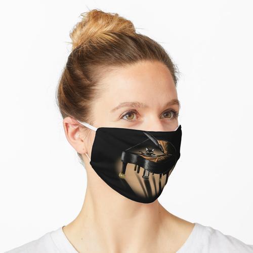 Klavier und Katze Maske