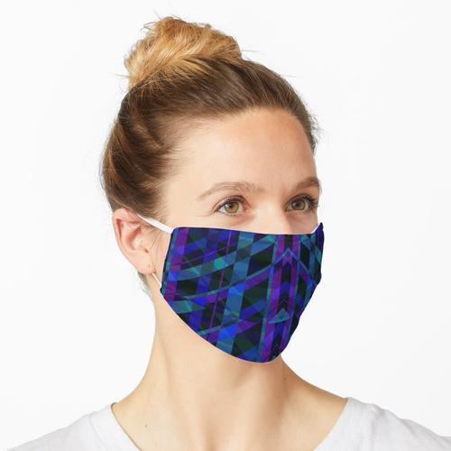 Dreieckiges lila Plaid Maske