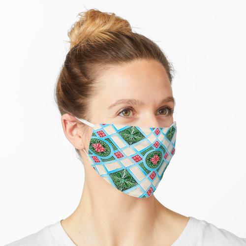 Peranakan Blumenfliese Maske