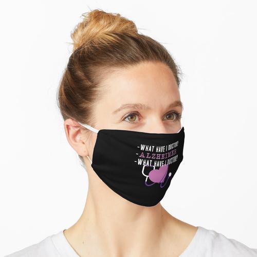 Was habe ich Doktor? Alzheimer - Lustiges Alzheimers Design Maske