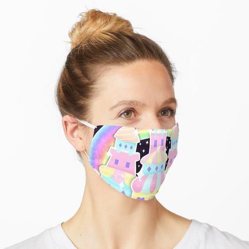 Regenbogen-Traumschloss Maske