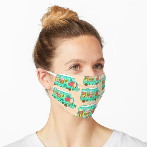 LKW-Frau verschieben Maske
