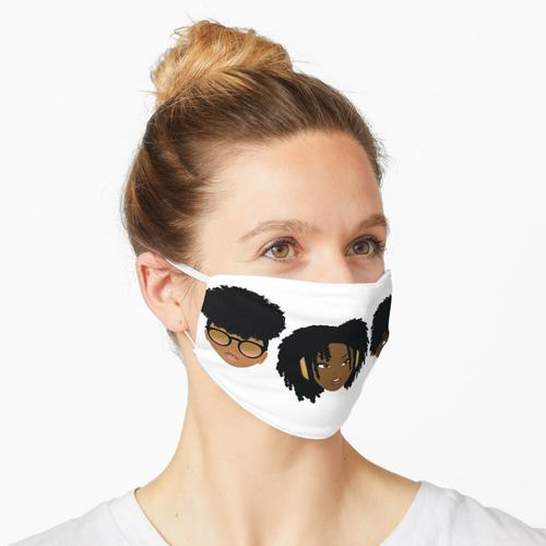 3 weise Naturisten Maske