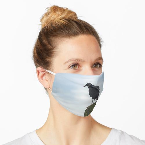 Truthahngeier in Kalebasse Maske