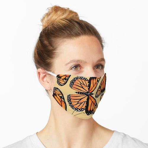 Herde von Monarchfalter Maske