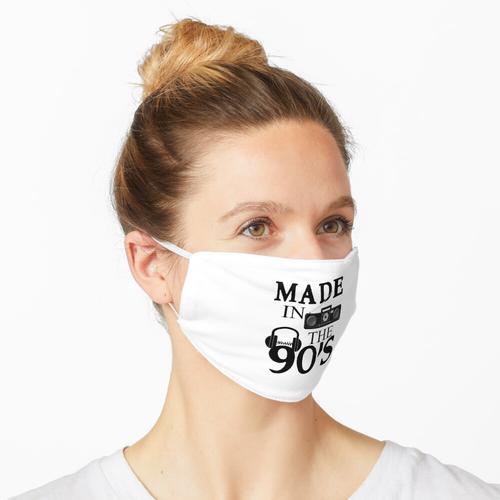 90er Herrenhemd Rap T-Shirt Maske