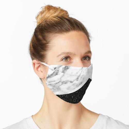 Ebenholz Marmor Maske