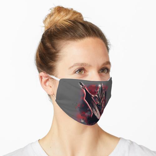 Rote Pyramide Maske