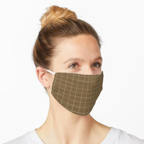 Braun mit hellbraunem Gitter Maske