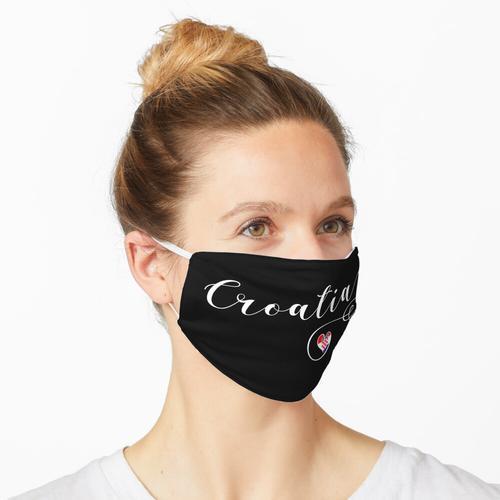 Kroatien-Herz, Kroatien-Flagge, ich liebe Kroatien Maske