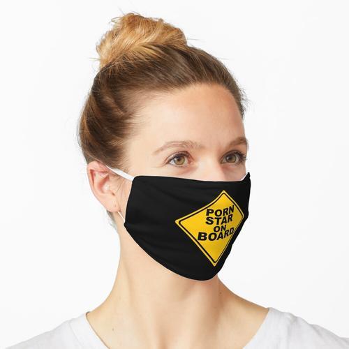 Pornostar an Bord Zeichen Maske
