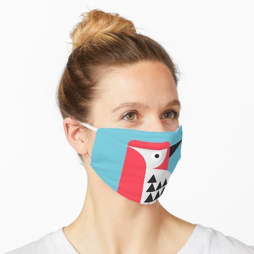 Specht in blau Maske