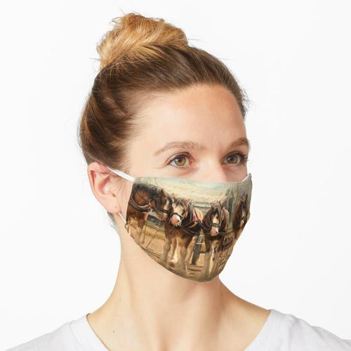 Sechs auf der Anhängerkupplung Maske