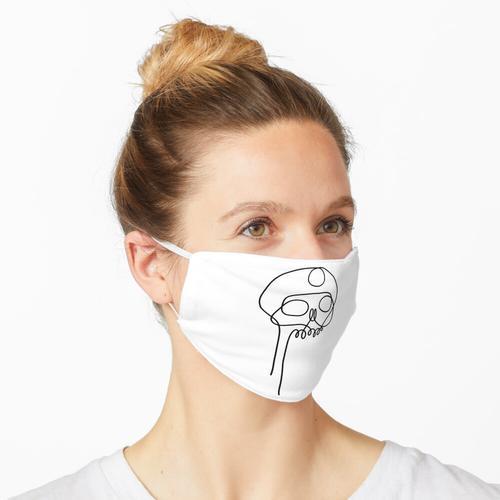 Schnürsenkel-Schädel Maske