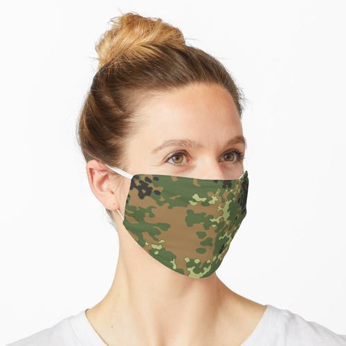 Tarnfleck Flecktarn Bundeswehr Maske
