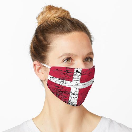 Dänemark dänisch Flagge Fahne used-look Maske