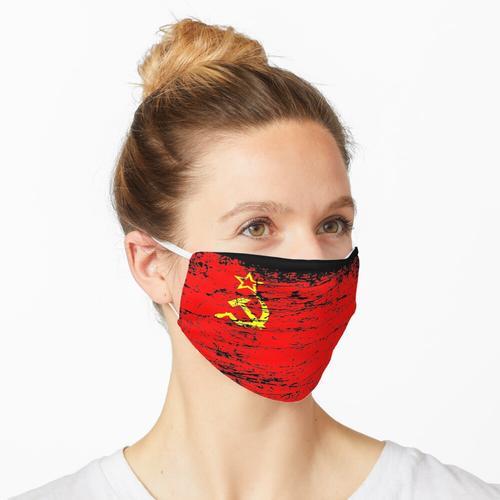 Sowjetunion UdSSR Russland Fahne Flagge used-look Maske
