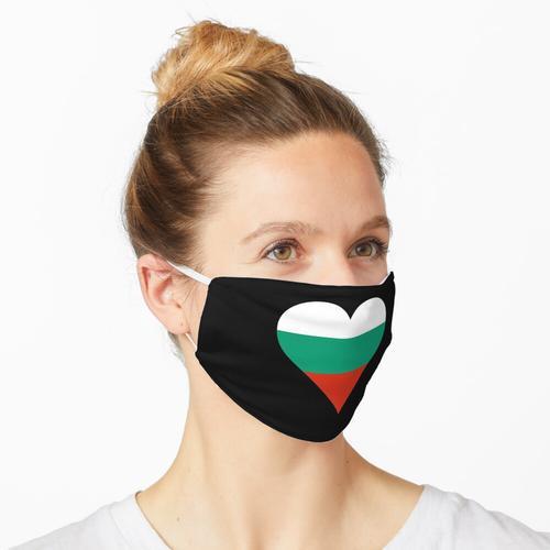 Bulgarien bulgarisch Flagge Fahne Herz Maske