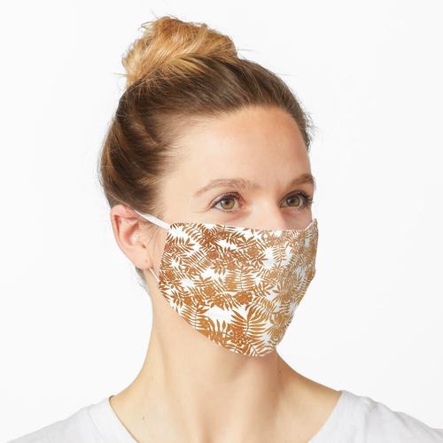 Eberesche / Eberesche - Kupfer auf Weiß Maske
