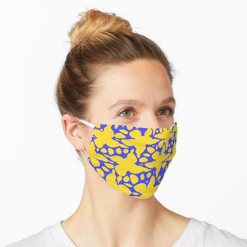 Abstrakte Blumen im Wasserdruck Maske