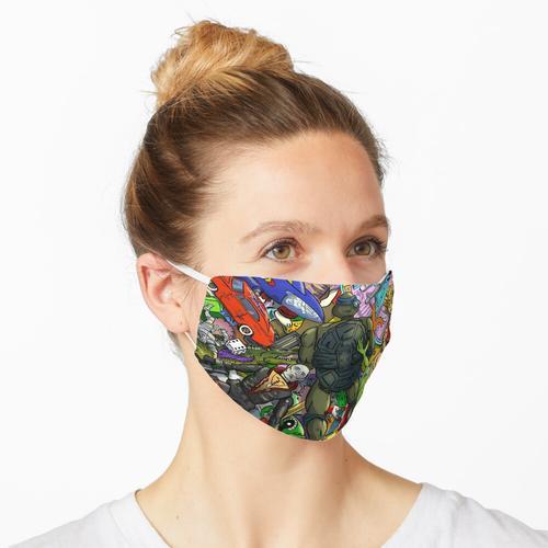 Retro Spielzeugkiste Maske