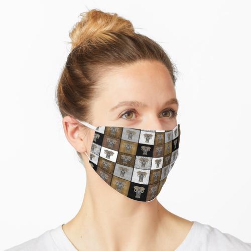 Elefant Checkboard Maske
